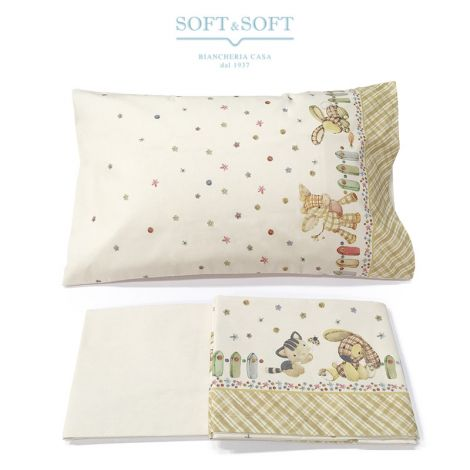 STELLA 18 Sheet Set for Cot Yellow Puppets