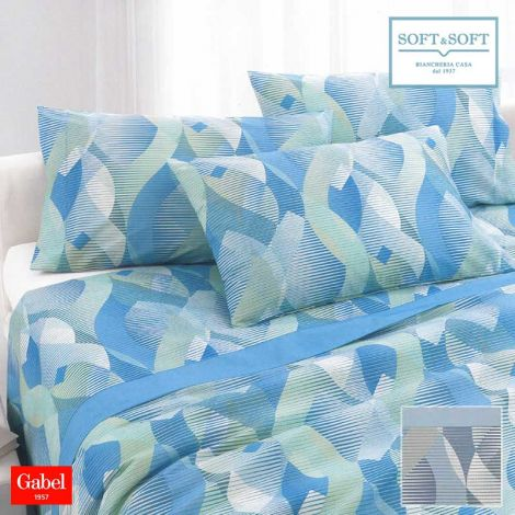 SUMMIT GABEL printed cotton bed sheet set double bed size