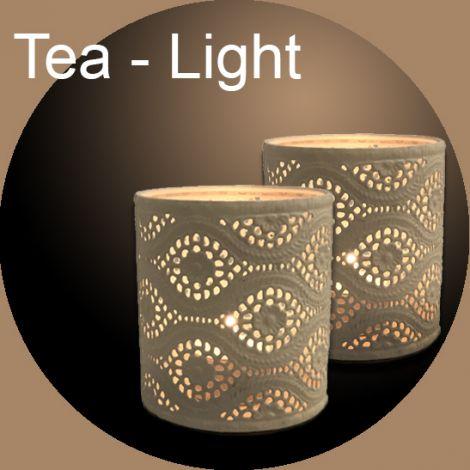 Lanterne TeaLight in metallo avorio Laccato cm 9H (acquisto minimo due pezzi)