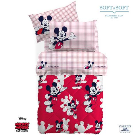 TOPOLINO winter Quilt for Single Bed Disney by CALEFFI