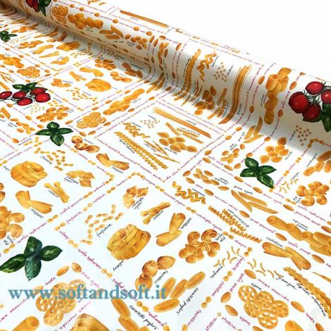 Italian Pasta laminated fabric for tablecloth cm 120H (sales per meter)