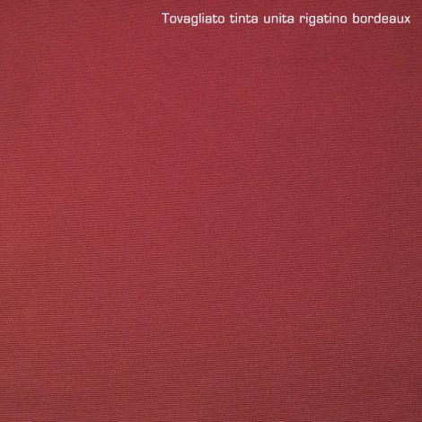 TOVAGLIA Rettangolare e QUADRATA su Misura Bordeaux RIGATINO