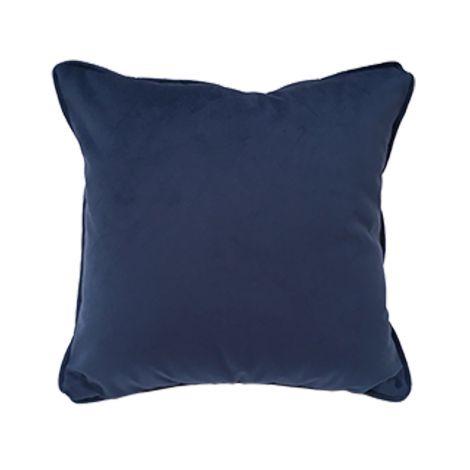 VELVET Cuscino Arredo Quadrato cm 40x40 in Velluto-Blu