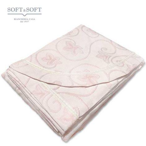 Copriletto da una piazza e mezzo Venus leggero tessuto jaquarde di cotone
