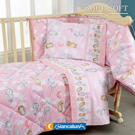 VEZZE Quilt and Bumper for Cots by Nursery Biancaluna