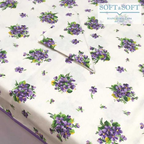 VIOLA Pure Cotton Table Set  for 8 people Tablecloth+Napkins