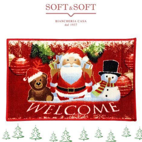 TABA NATALE Carpet Doormat cm 40x70  WELCOME