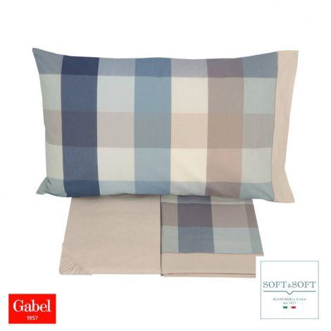 WILSON completo lenzuola letto SINGOLO madapolam puro cotone GABEL-Decò