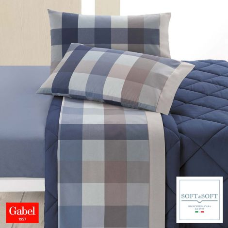 WILSON sheet set DOUBLE BED pure cotton madapolam GABEL