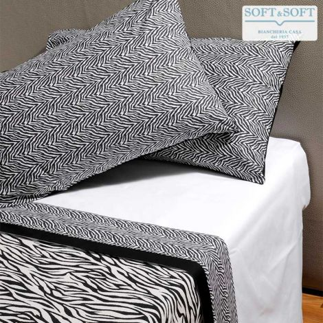 ZEBRA Sheet Set DOUBLE Bed Size Printed Pure Cotton
